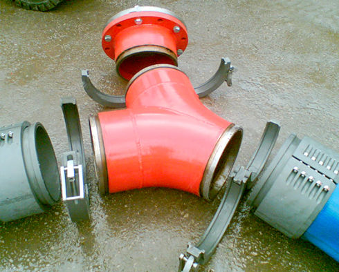 Water Well Couplings fire fighting Large Layflat Hose fittings Aluminium Spool Piece Dewatering Fracking Coupling Fracking Bunkering emergency